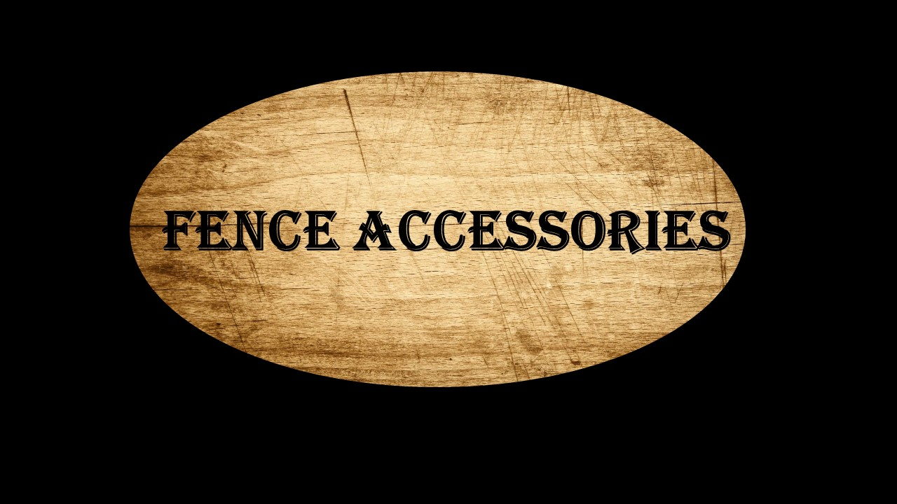 Here are some fence accesories for your to choose from.  Kingdom Roof and Fence.